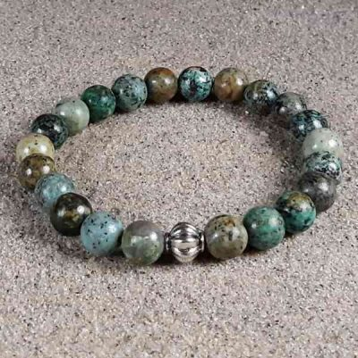 African Turquoise Healing Energy Stretch Bracelet