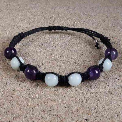 Amazonite & Amethyst Healing Energy Bracelet