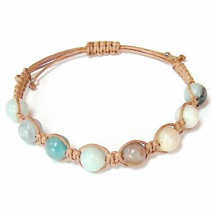 Flower Amazonite Healing Energy Bracelet