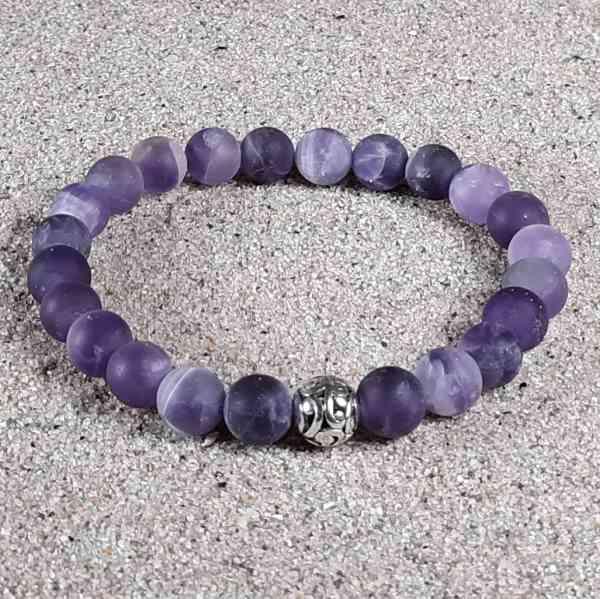 Amethyst Healing Energy Stretch Bracelet