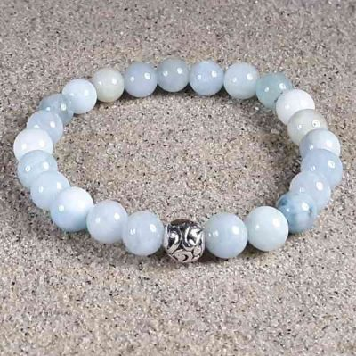Aquamarine Healing Energy Stretch Bracelet