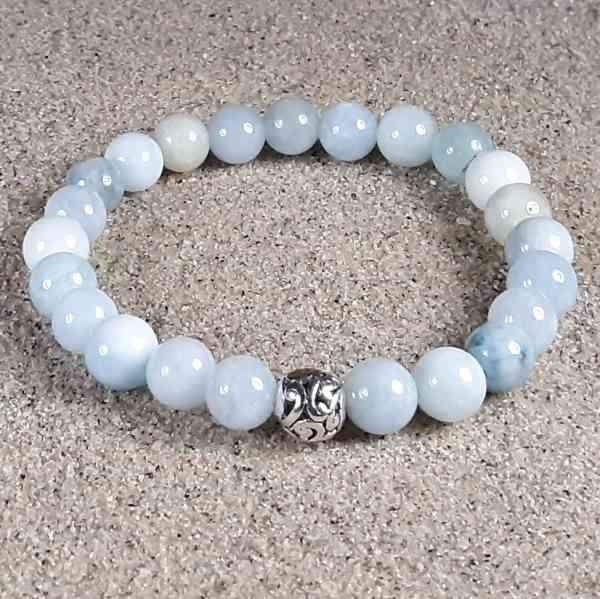 Aquamarine Healing Energy Stretch Bracelet