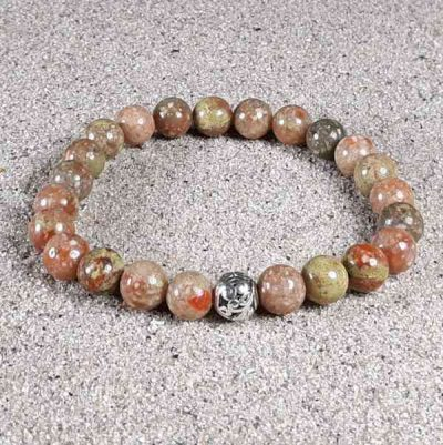 Autumn Jasper Healing Energy Stretch Bracelet