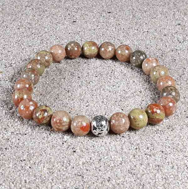 Autumn Jasper Healing Energy Stretch Bracelet