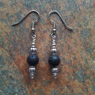 Black Lava Earrings