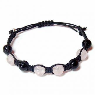 Black Obsidian & Rose Quartz Healing Energy Bracelet