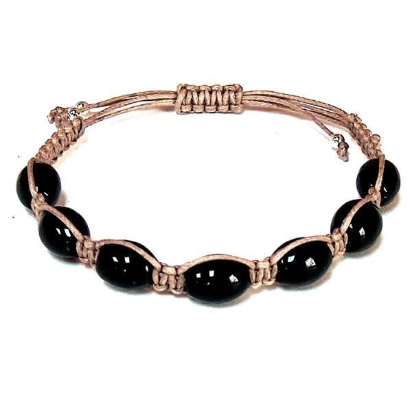 Black Onyx Barrel Healing Energy Bracelet
