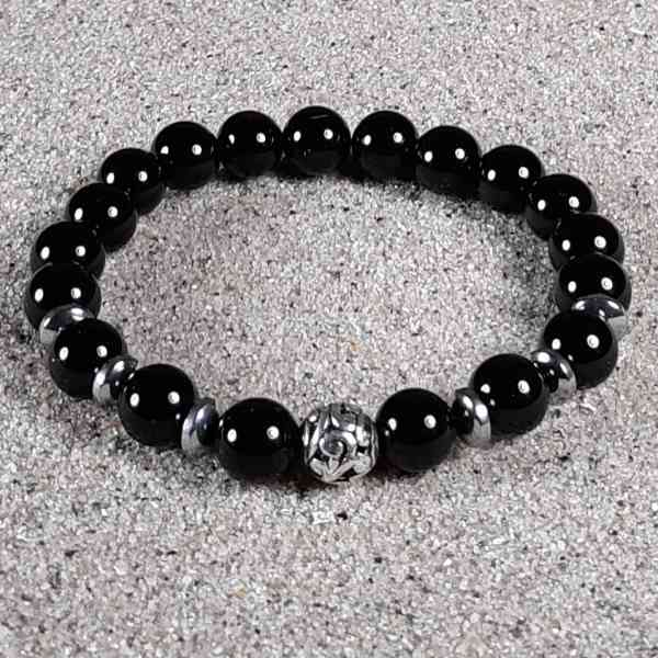 Black Onyx Healing Energy Stretch Bracelet
