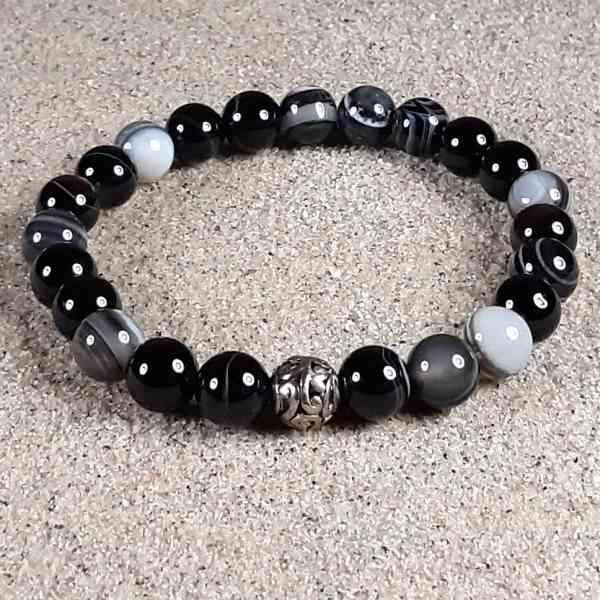 Black Sardonyx Healing Energy Stretch Bracelet