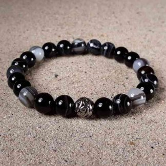 Black Sardonyx Healing Energy Stretch Bracelet