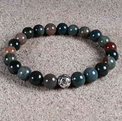 Bloodstone Healing Energy Stretch Bracelet