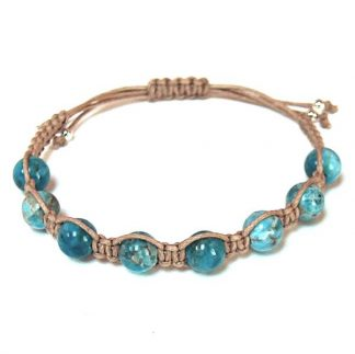 Natural Blue Apatite Healing Energy Bracelet