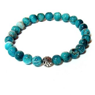 Blue Apatite Healing Energy Bracelet (stretch)