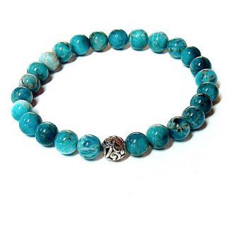 Blue Apatite Healing Energy Bracelet (stretch)
