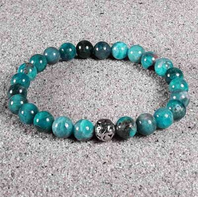 Blue Apatite Healing Energy Stretch Bracelet