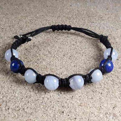Blue Chalcedony, Angelite & Lapis Healing Energy Bracelet
