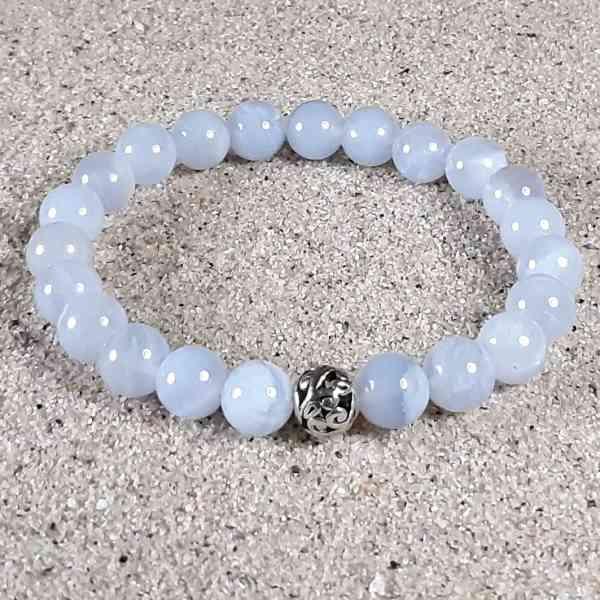 Blue Chalcedony Healing Energy Stretch Bracelet