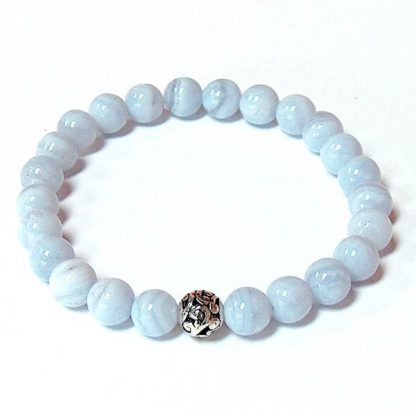 Blue Chalcedony Healing Energy Stretch Bracelet