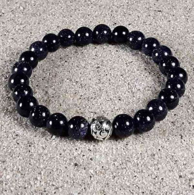 Blue Goldstone Healing Energy Stretch Bracelet