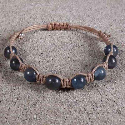 Blue Kyanite Healing Energy Stretch Bracelet
