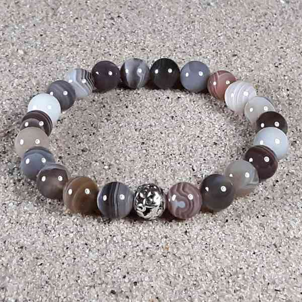 Botswana Agate Healing Energy Stretch Bracelet