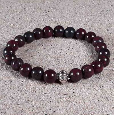 Brecciated Jasper Healing Energy Stretch Bracelet