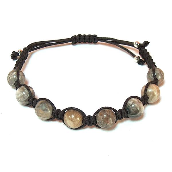 Brown Fossil Coral Healing Energy Bracelet