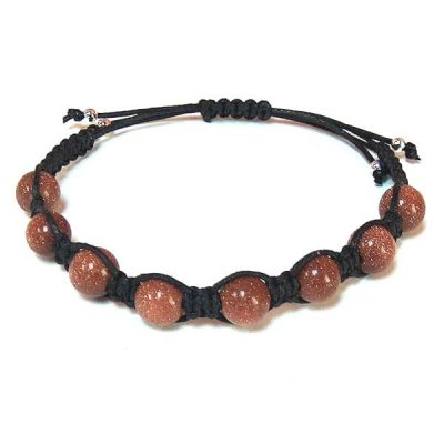 Brown Goldstone Healing Energy Bracelet