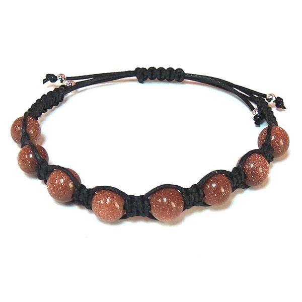 Brown Goldstone Healing Energy Bracelet