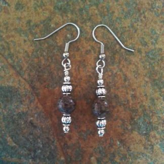 Brown Snowflake Jasper Earrings