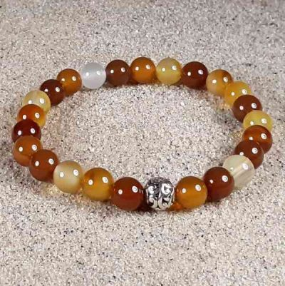 Natural Carnelian Healing Energy Stretch Bracelet