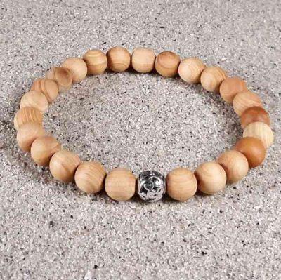 Cedar Wood Healing Energy Stretch Bracelet