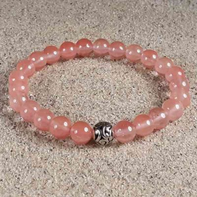 Cherry Quartz Healing Energy Stretch Bracelet