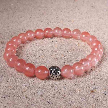 Cherry Quartz Healing Energy Stretch Bracelet
