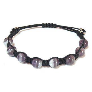 Chevron Amethyst Healing Energy Bracelet
