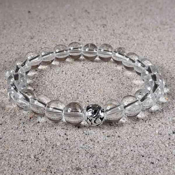 Clear Quartz Healing Energy Stretch Bracelet