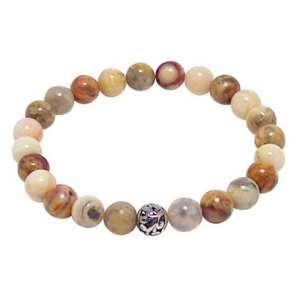 Crazy Lace Agate Healing Energy Bracelet (stretch)