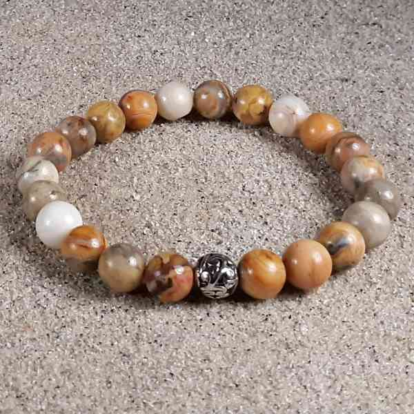 Crazy Lace Agate Healing Energy Stretch Bracelet