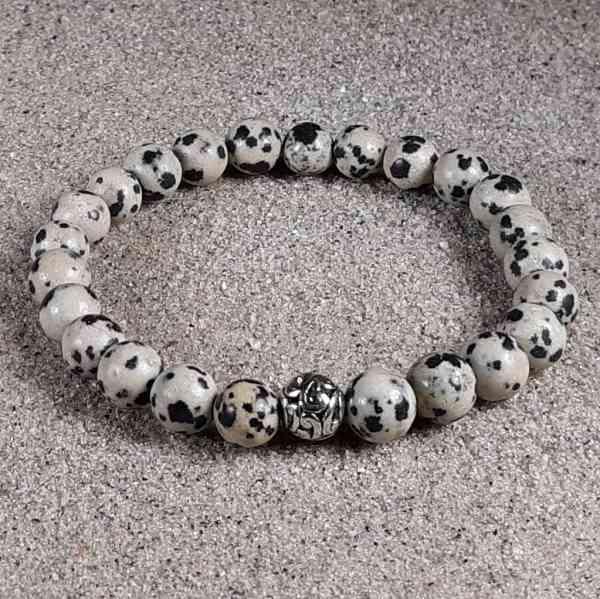 Dalmatia Stone Healing Energy Stretch Bracelet