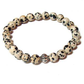 Dalmatian Stone Healing Energy Stretch Bracelet