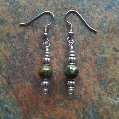 Dragon Blood Jasper Earrings