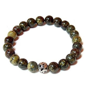 Dragon Blood Jasper Healing Energy Stretch Bracelet