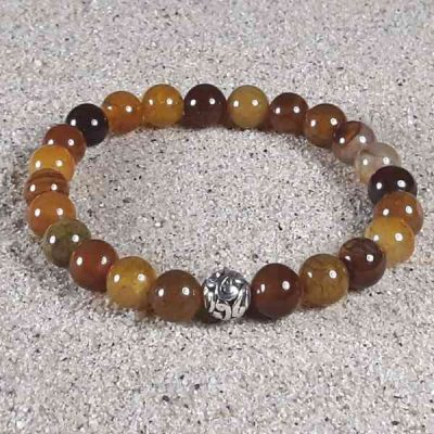 Dragon Vein Agate Healing Energy Stretch Bracelet