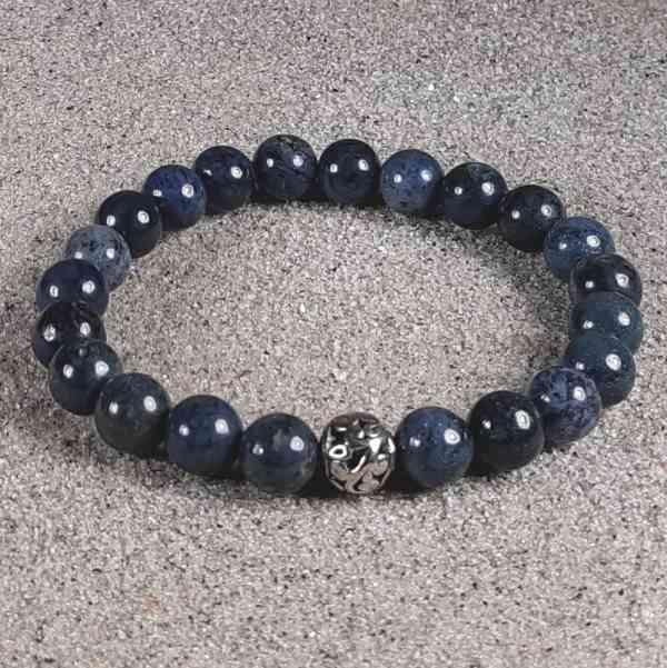 Dumorterite Healing Energy Stretch Bracelet