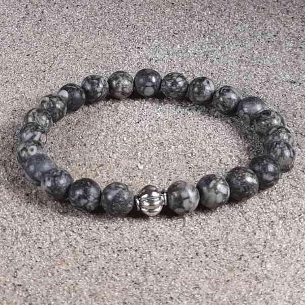 Fossil Agate Healing Energy Stretch Bracelet