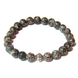 Fossil Agate Healing Energy Stretch Bracelet