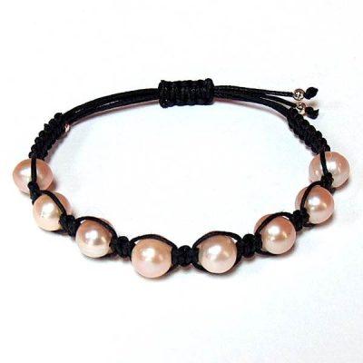 Pink Freshwater Pearl Healing Energy Bracelet