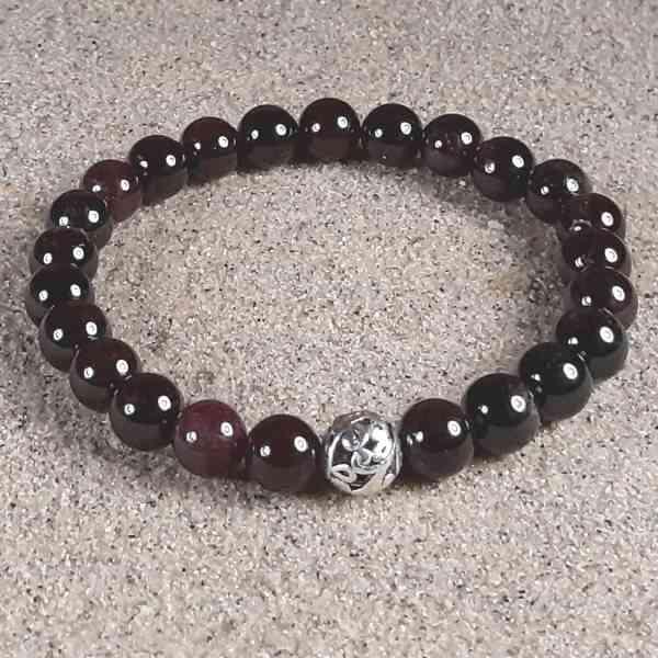 Garnet Healing Energy Stretch Bracelet