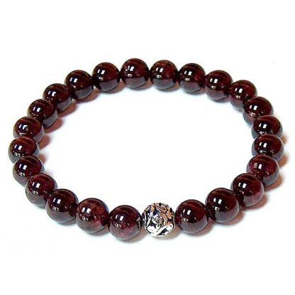 Garnet Healing Energy Stretch Bracelet