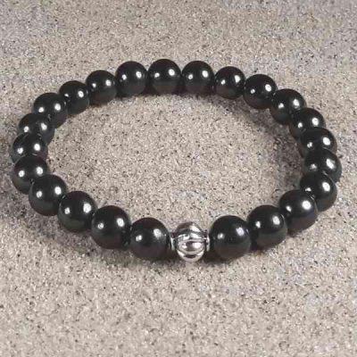 Genuine Shungite Healing Energy Stretch Bracelet